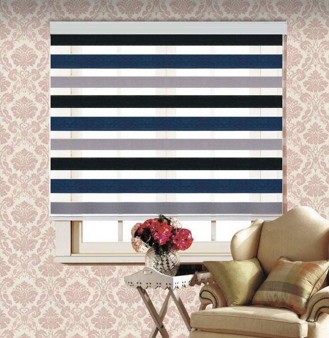 Rgxzr shalian americano persiana dupla camada de sombra cortina cortinas dia blinds zebra e cortina noite(China (Mainland))