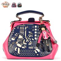 New arrival 2013 PU cutout bag female handbag messenger bag shoulder bag women's bag