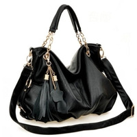 2013 bags fashion all-match tassel big bag handbag messenger bag PU women's handbag