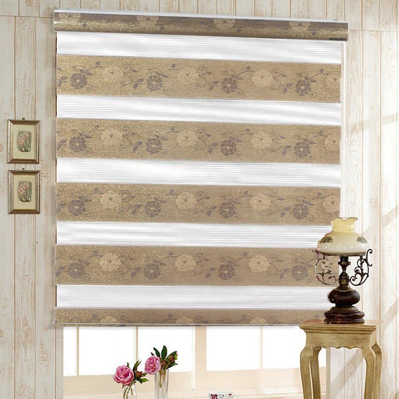 Nova chegada rgxzr shalian jacquard de persiana dupla camada blinds sombra cortina cortinas zebra dia e noite cortina(China (Mainland))