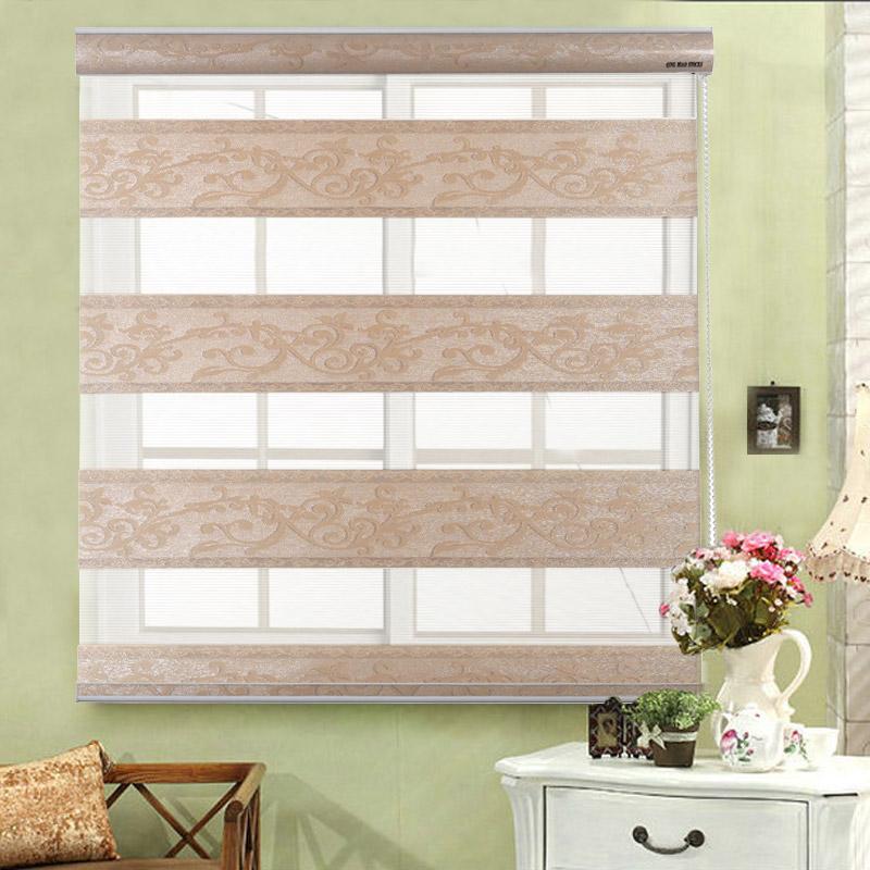 Rgxzr jacquard shalian camada dupla blinds sombra partição cortina de blinds zebra persiana produto acabado dia e noite(China (Mainland))