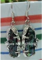 Natural Abnormal Black Akoya Cultured Pearl Earring Fashion jewelry