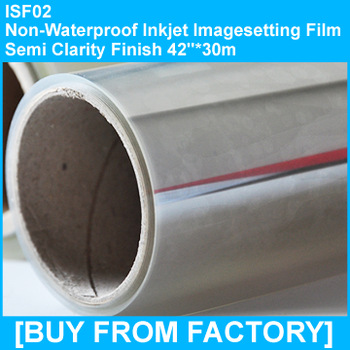 "Non-waterproof Inkjet Imagesetting Film Semi-clarity 42""*30M"