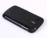2 Piece a Lot Black BK TPU Gel Soft Case S-Line Wave For Huawei Ascend G300 NFC U8818 U8815 Hong Kong Seller