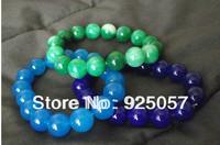 "New Striking Round Jade Stretch Bracelet 10 MM 7.5"" Medium Fit Various ColorsFashion jewelry"