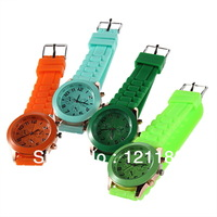 2013 Hot Sale New Fashion Wristwatches Ladies Brand Silicone Watch Jelly Watch 12 Color Quartz Watch For Women Men Free Shipping