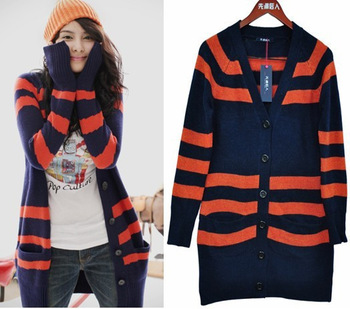 Classic stripe cardigan stripe sweater dress 20045  Y911