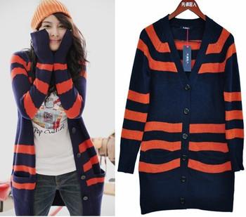 Classic stripe cardigan stripe sweater dress 20045  Y911