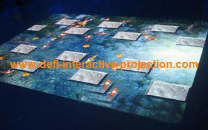 Interactive floor system for for Digital signage, Interactive advertising,