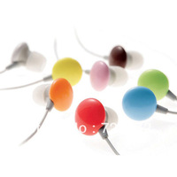 New 3.5mm Fashion Sweet Candy In-Ear Earbuds Earphone Headphone for MP3,MP4,Phone red color