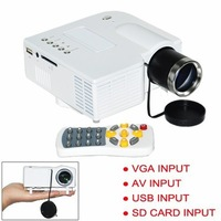 Mini LED Portable Projector 320x240 AV VGA SD USB Slot with Remote Control Cinema Theater, PC Laptop