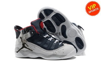 Wholesale Hot Sale Popular Trainers Retro 6 Rings Kids Children's Sports Basketball Shoes (white / red / midnight navy / silver)
