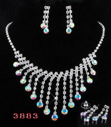Hot Sale Free Shipping Fashion Up Market Rhinestone Jewelry Bride Macrame Two-piece Jewelry Factory Price.Best Choice To Women(China (Mainland))