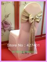 Hot Sale Light Sliver  Satin Chair Sash For Wedding Event & Party Decoration