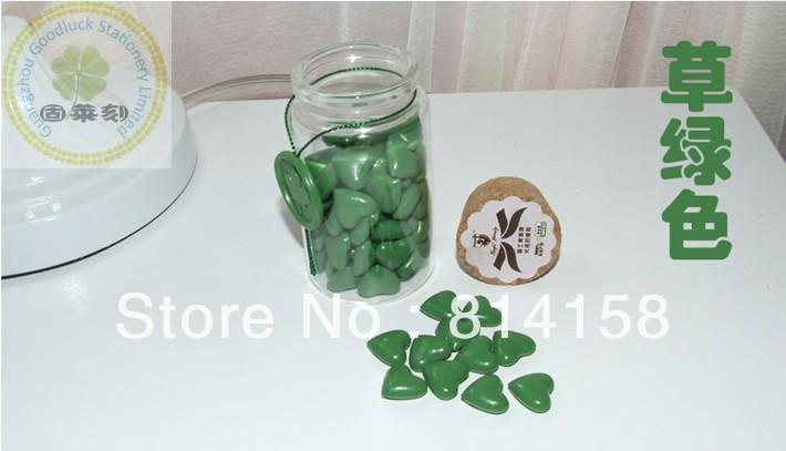 Grass green bottle package sealing wax grain/Grass green heart shaped block sealing wax grain(China (Mainland))