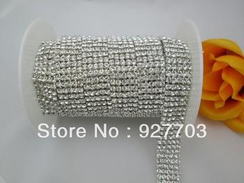 (CM83) 5 Yard 5 Rows Wedding Decoration Rhinestone Crystal Cup Chain Cake Ribbon SS16