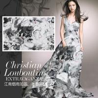 nature silk digital printed silk chiffon fabric for dress 6m/m,135CM