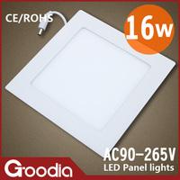 Free shippping 173*173mm16w panel led  AC85~265V CE & ROHS 60pcs 2835SMD Cool white/Warm white 2PCS/LOT Led ceiling light
