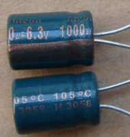 High-quality capacitors 6.3v1000uf motherboard repair accessories motherboard capacitor 1000 6.3V