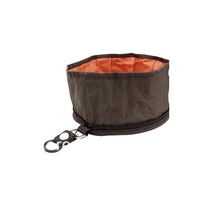 Collapsible Nylon Travel Dog Pet Food Water Feeder Bowl