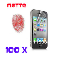 100pcs/lot For iPhone 4 Screen Protector Anti Glare Matte Screen Cover Protective LCD Film For Apple iPhone 4S Screen Guard