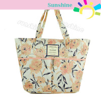 Japanese Sweet Retro bag Women's handbag  with Flower Zipper Shoulder Bag Handbag 12216