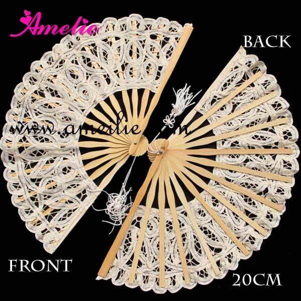20pcs/lot Battenburg Lace Fan Elegant classy and beautiful adult Lace Fan(China (Mainland))