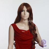 Free shipping women's long red wavy wigs/Auburm hair wigs/100%KANEKALON graceful fashion style
