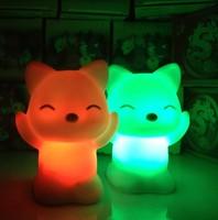 Fox cat colorful small night light luminous toys light-up toy night light