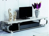 high quality Tv stand Tv table living room furniture stainless steel with marble top Tv  table  home furniture E144