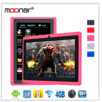 7inch 5 Points Touch Capacity Screen Allwinner Cortex-A8 512RAM 4GB 1080P  Front Camera Wifi Adroid 4.0 Tablet PC 5 Colors