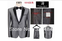 2013 Shiny Gray Top Brand Wool Men Tuxedo Bridegroom Elegant Suits For Men Fashion  Party working Formal Suits hot Salling