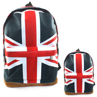 Drop & Free shipping New Women Canva UK England Flag Punk BackPack Shoulder Bag Handbag Duffle School  SP0174YG