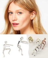 Hot Sale ! 2013 New Lovely little Men Climbing Ear Clips Fashion Earrings Wholesale 20pcs/lot Free Shipping