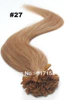 "U Tip  Honey Blonde/strawberry blonde 100'S/BAG/LOT 50Gram  18""20""22'  100% Good REMY  human hair Pre-bonded hair extension"