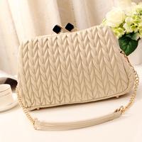 Elegant women handbag 2014 fashion chain Buckles single shoulder bag,free shipping,drape crossbar style 24*18*10cm