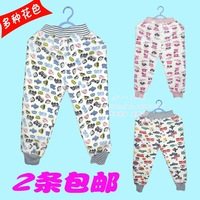 2 autumn and winter baby 100% plus velvet cotton thermal long johns infant boy 100% cotton innerwear long trousers