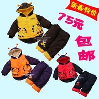 Style ladybug set 0 - 2 wadded jacket baby clothes child suprenergic doll set