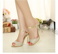Sexy gold all-match belt open toe stiletto sandals j520 PPXX