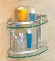 Quality space aluminum double layer shelf ! towel rack towel rack soap holder