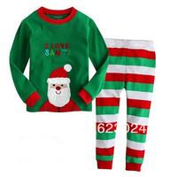 Christmas man,free shipping,girls and boys long pajamas,baby clothing,children sleepwear,kids sets,boys  pyjamas