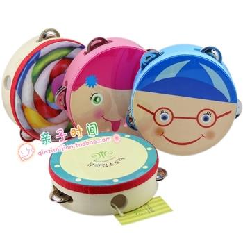 Tambourine doll child 6 4 cartoon tambourine baby music toy lollipop tambourine
