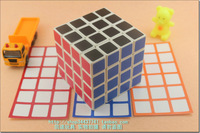 Fourth order magic cube white scrub stickers super-elevation