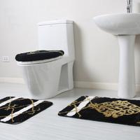 Bathroom four piece set toilet cover toilet seats toilet seat toilet mat da5540-2