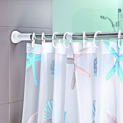 Bathroom retractable adjust shower curtain rod stainless steel shower curtain rod(China (Mainland))