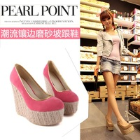 Spring candy color women's wedges shoes single shoes ss c86 65