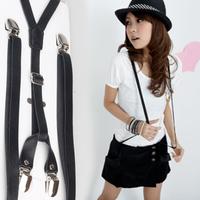 Pu male women's general suspenders women's suspenders accounting suspenders dress