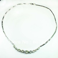 Fashion  White opal  CLassic  S  925 Silver  necklaces N008