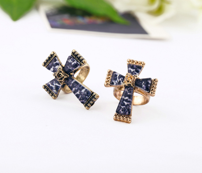 FREE SHIPPING(Min Order $15 Mixed Is Ok)Fashion Leopard Cross Vintage Ring Factory Wholesaler(China (Mainland))