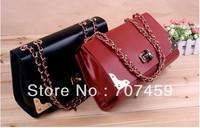 Free shipping!2013 female bags fashion shoulder bag messenger bag chain bag handbag lock briefcase